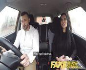 Fake Driving School Jasmine Jae fully naked sex in a car from fake naked sa