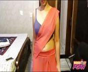 Indian Punjabi College Girl In Sari Exposing Clean Pussy from malayalam hot praveena in sari