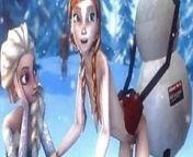 Elsa and Anna 3D sex compilation (Frozen) from elsa frozen sex lesbian